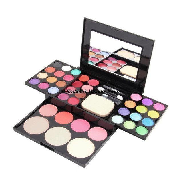 39 Colors Make Up Palette Kit Eye Shadow Blusher Powder Metallic Shimmer Foundation Powder Makeup set kit