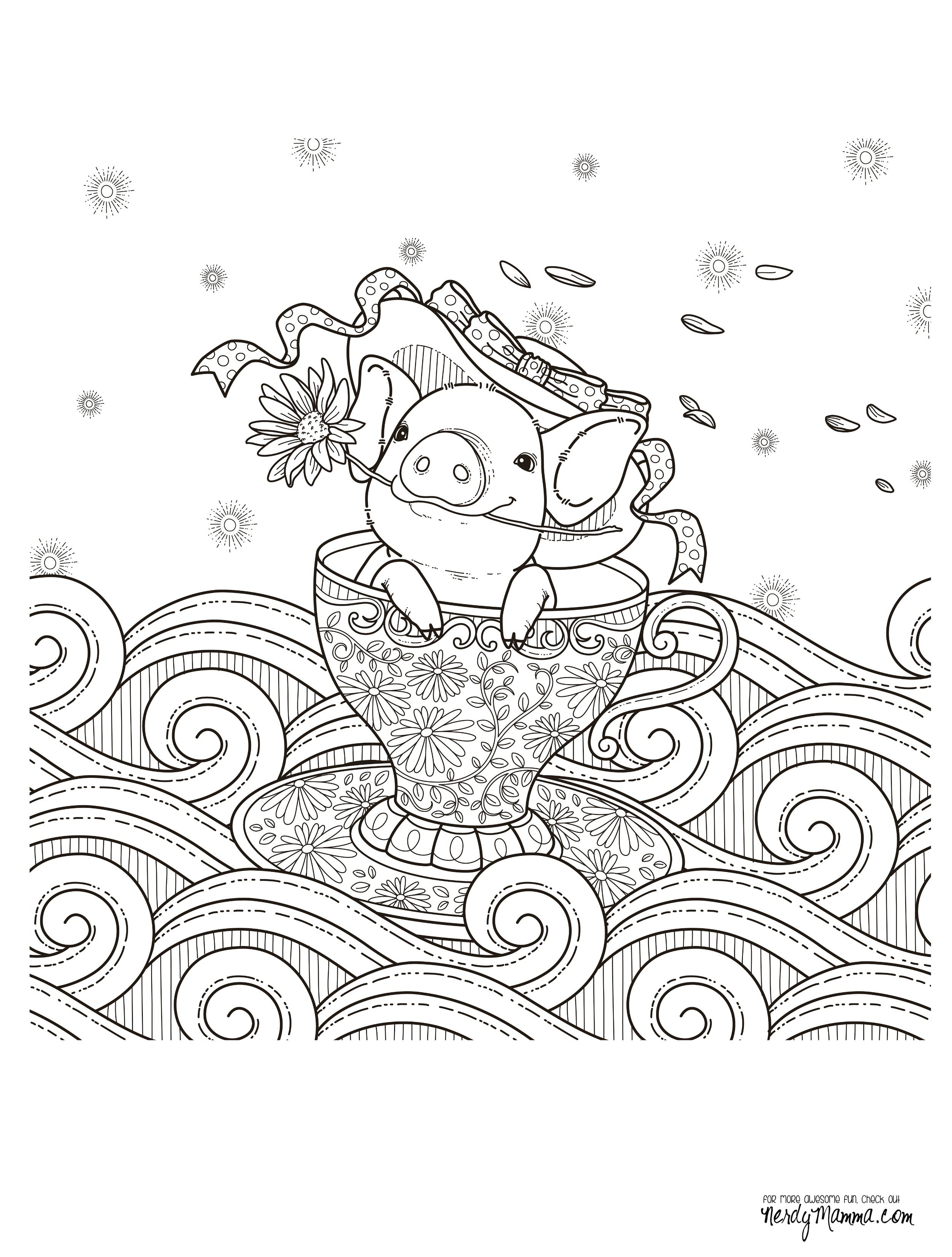 11 Free Printable Adult Coloring Pages | Tea Please | Pinterest ...