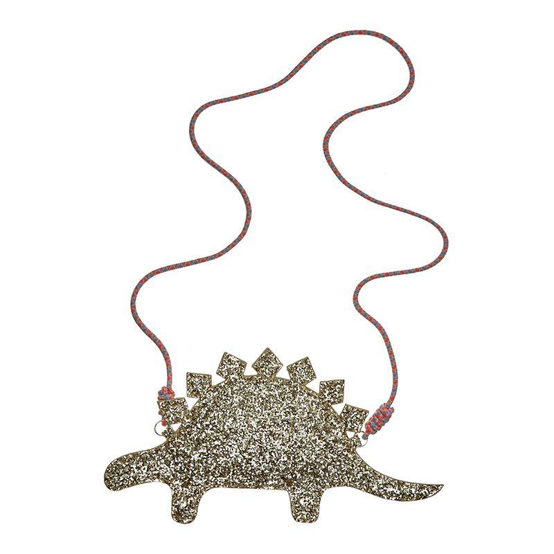Sac bandoulière stegosaure à paillettes   Sac, Dinosaure et