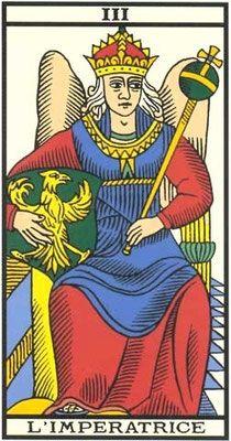 Interprétation de l'arcane de L'Impératrice dans le jeu du tarot de Marseille - Apprendre le Tarot de Marseille, le Tarot Divinatoire