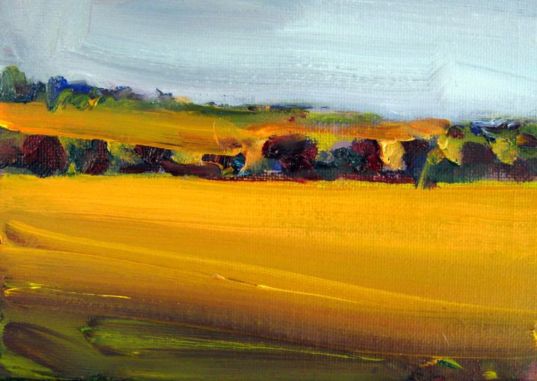 Cornfield revisited, a painting by HR Bell