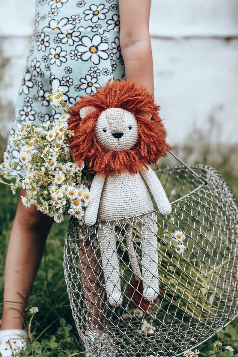 PDF crochet lion pattern amigurumi lion lion plush cute ...