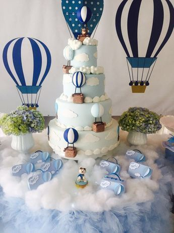 Hot Air Balloon Center Pieces Balloon Baby Shower Centerpieces Baby Shower Balloons Baby Bear Baby Shower