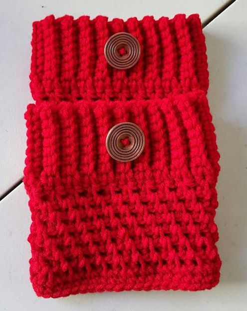 RED Color Women\'s Crochet Boot Cuffs, Boot Toppers, Boot Socks, Leg ...