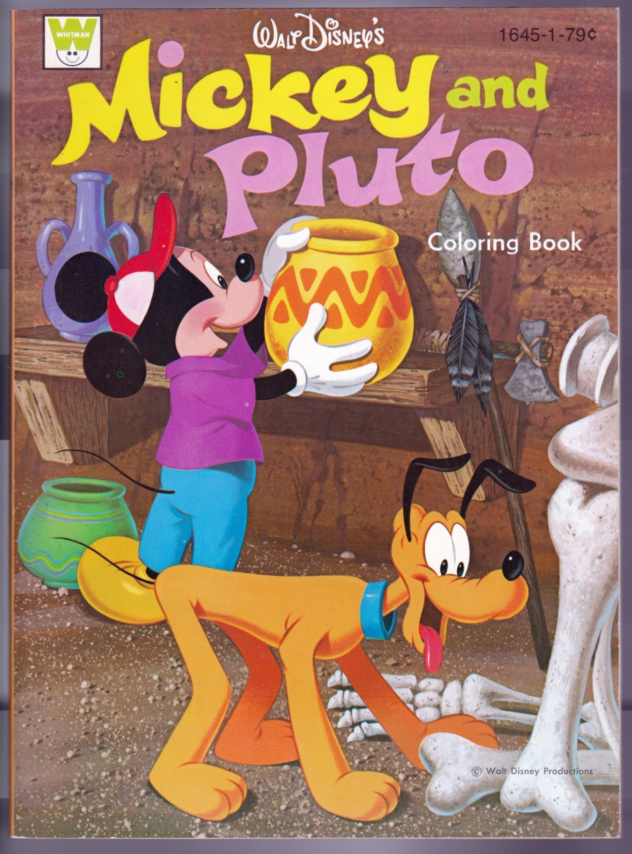Walt Disneys Mickey And Pluto Coloring Book Whitman Publishing 1972 From Disneyland Treasures Ebay Store