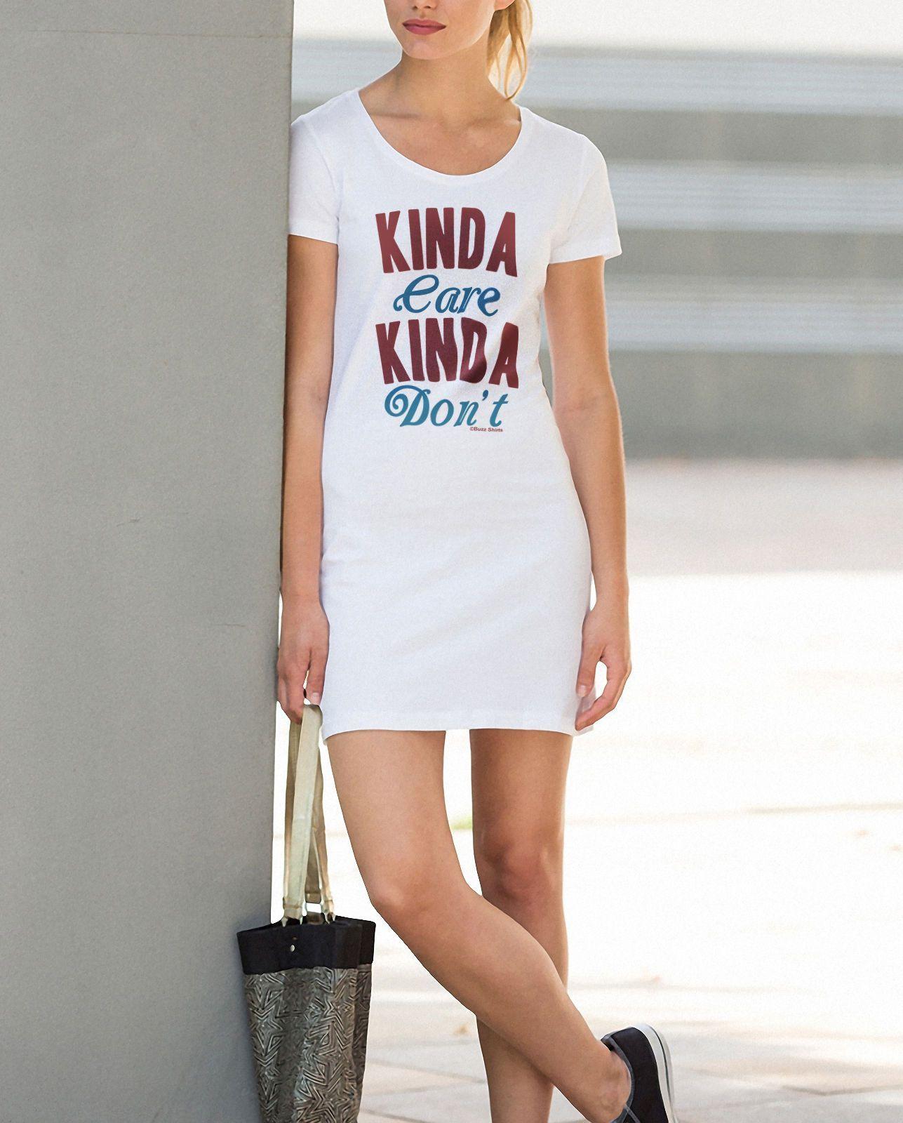 Ladies T Shirt Dress Summer Kinda Care Kinda Dont Funny Womens Fashion Shirt Dress Summer Retro Fashion Women Fashion [ 1600 x 1287 Pixel ]