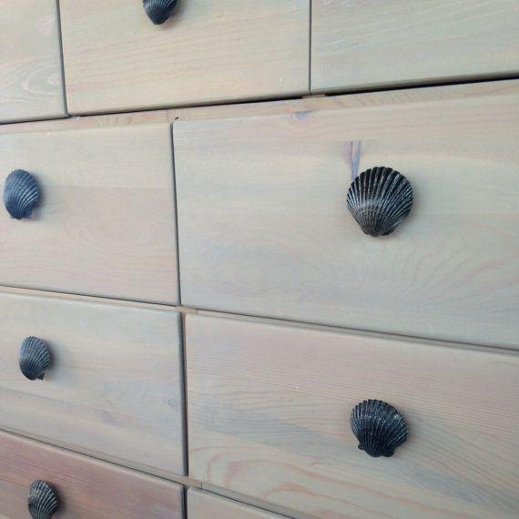 Elegant Nautral Seashell Drawer Pulls Knobs Set Of 4 By UniqueCastaways, $20.00