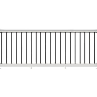 Veranda Premier Series 10 Ft X 36 In White Polycomposite Rail Kit With Black Aluminum Balusters 73013178 The Home Depot In 2020 Aluminum Balusters Vinyl Railing Outdoor Living Deck