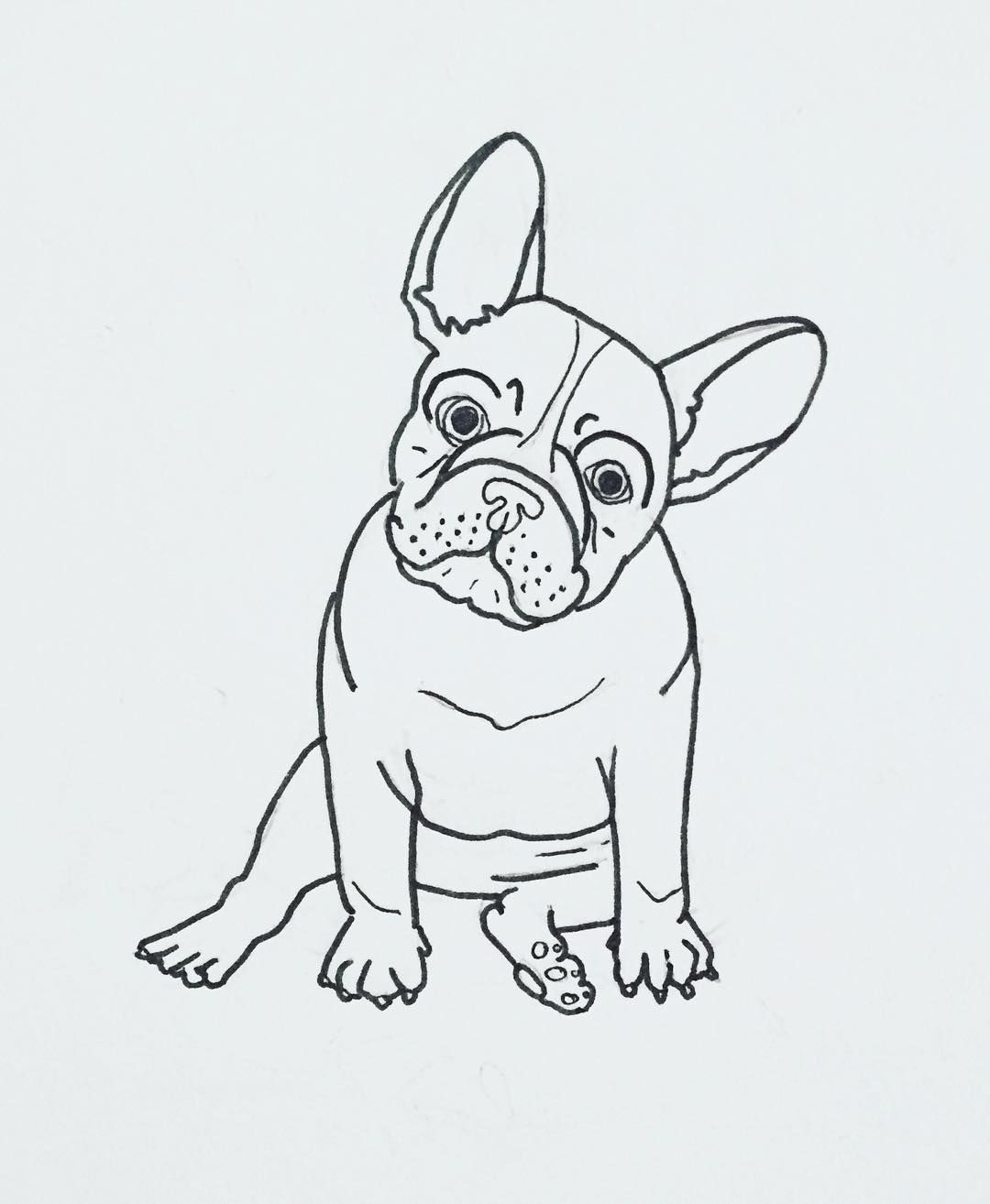 Uncategorized Bull Dog Drawing french bulldog pillow project bulldogs embroidery and frenchie illustration by thepapermama