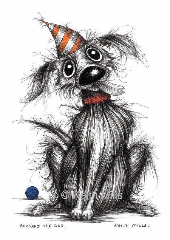 Bernard the dog Print download Cute little pet pooch by KeithMills