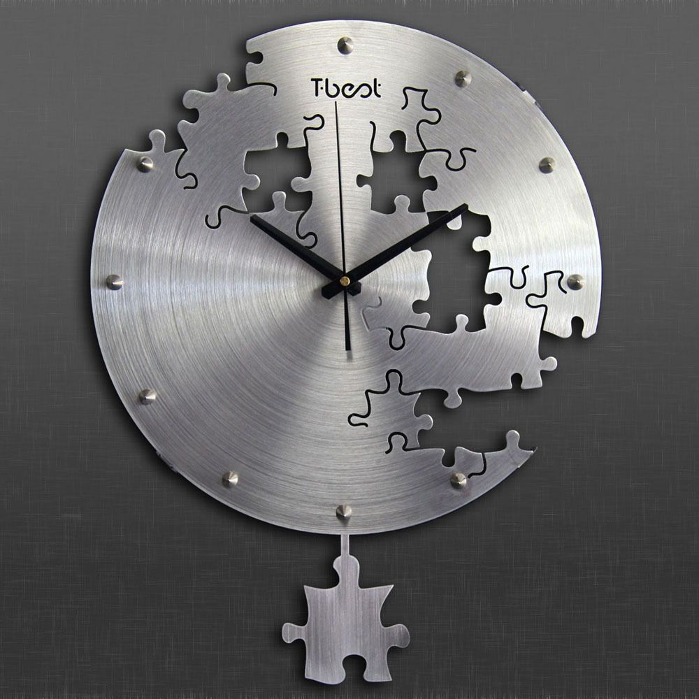 Fun and functional clock with an amazing puzzle cutout design