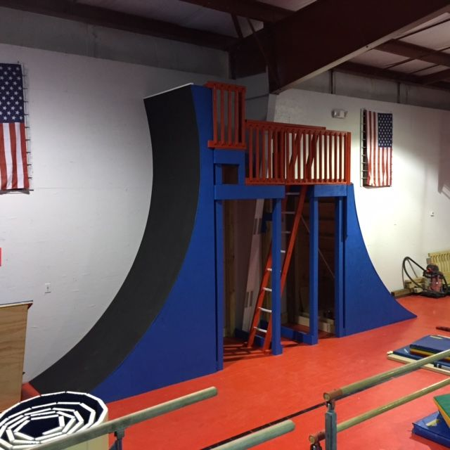Freedom Gymnastics Warped Wall