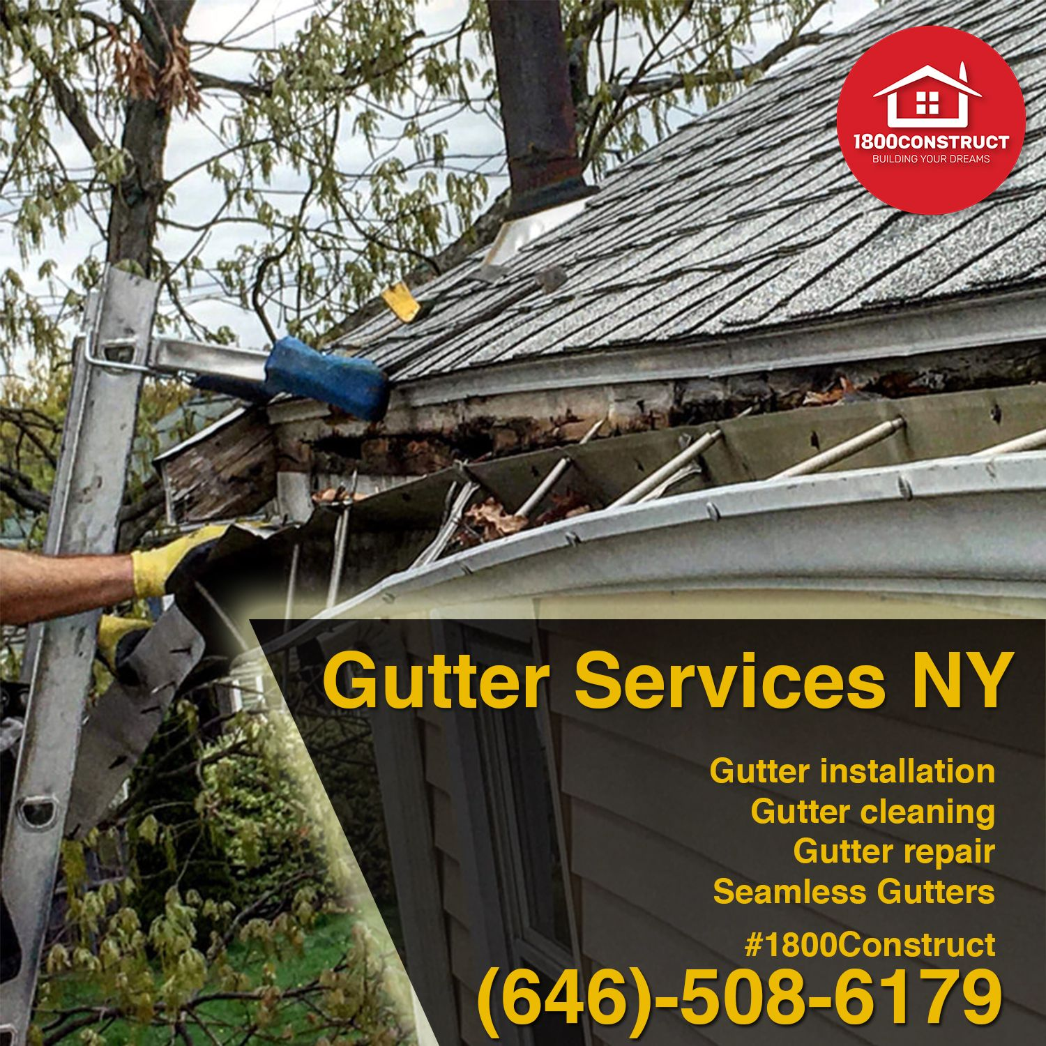 Affordable And Quick Gutter Services Ny In 2020 Gutter Services Gutter Repair How To Install Gutters