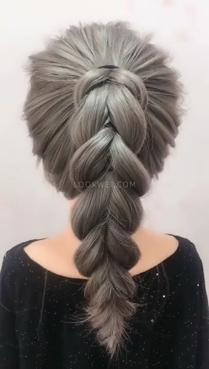Photo of How to braid this high ponytail hairstyle✨