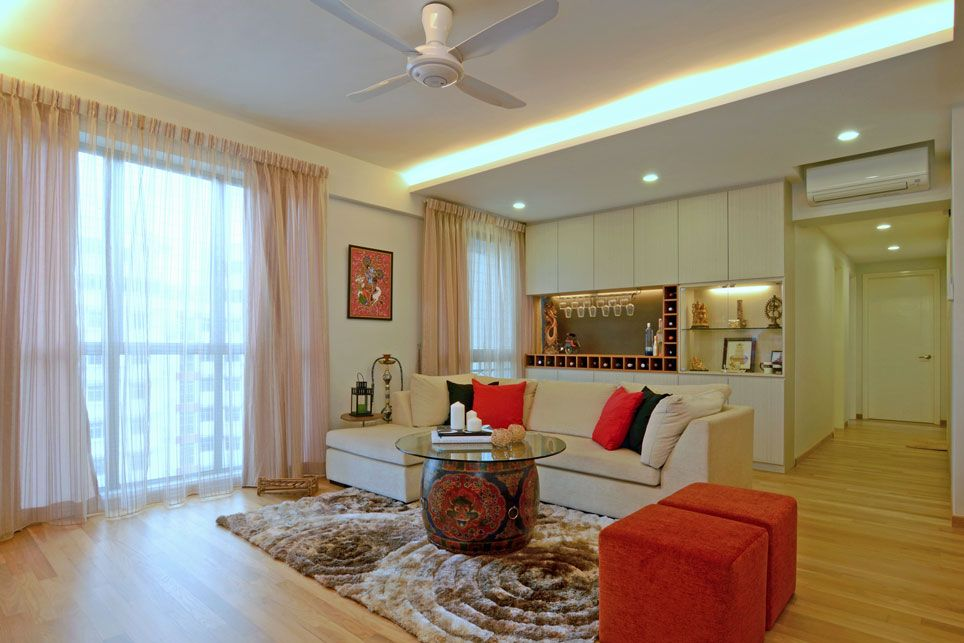 Cozy Modern Home In Singapore Developed For An Indian Couple