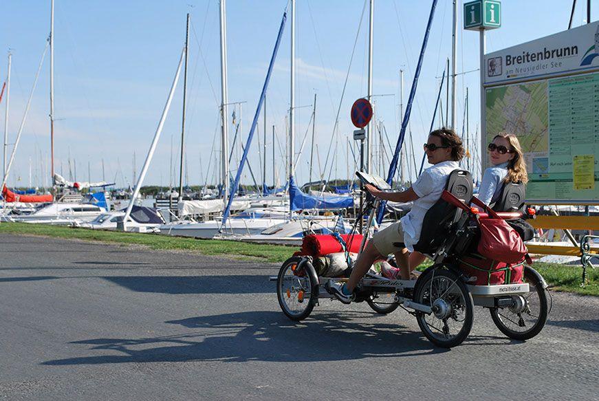 metallhase Vierrad ist ideal für Fahrradurlaub