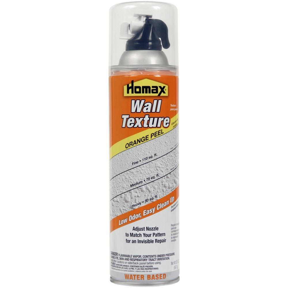 Homax 20 oz wall orange peel low odor water based spray