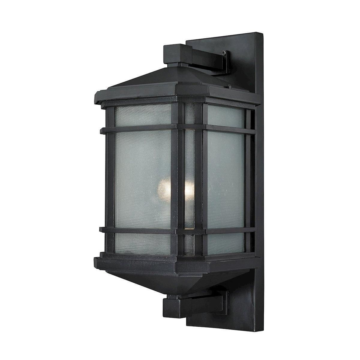 Lowell 1 Light Outdoor Sconce In Matte Black Elk 87042 1