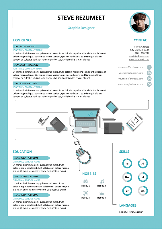 Rockdale  Free Resume Template  Light  Cv