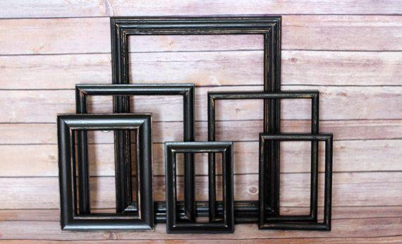 Gallery Wall Frame Set Distressed Frame Set Black Frames