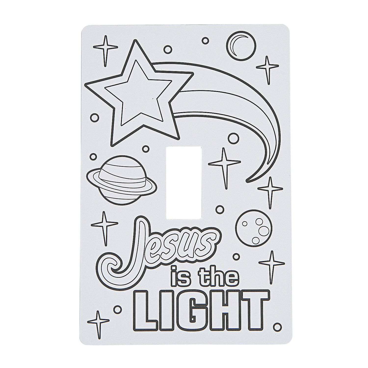 Color Your Own God S Galaxy Vbs Light Switch Covers Orientaltrading