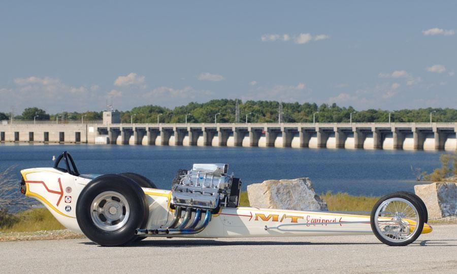 The long sleek rail dragsters are some of the coolest