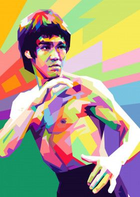 Bruce Lee, Enter the Dragon | Displate thumbnail