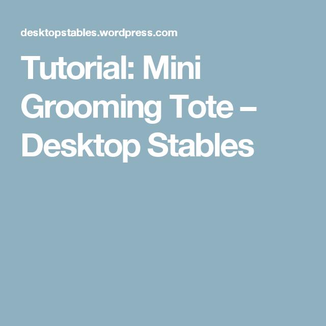 Tutorial: Mini Grooming Tote – Desktop Stables