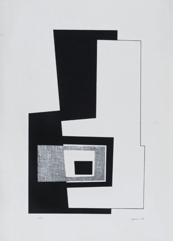 Composizione litografia 1977 4/20