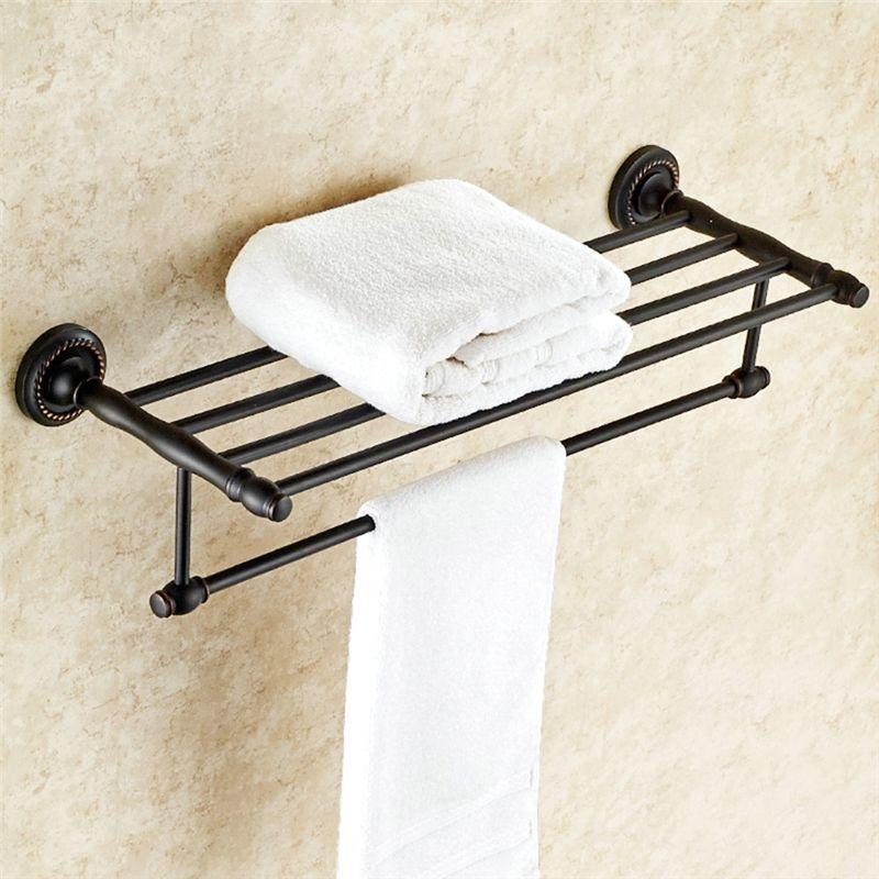 Towel Rack For Bathroom Oil Rubbed Bronze Craft Black Retro Towel