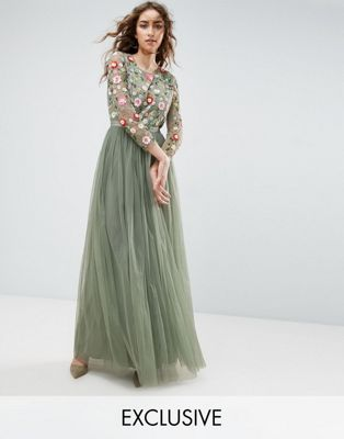 1640654513c32 Needle and Thread Long Sleeve Embroidered Maxi Dress | PROM in 2019 ...