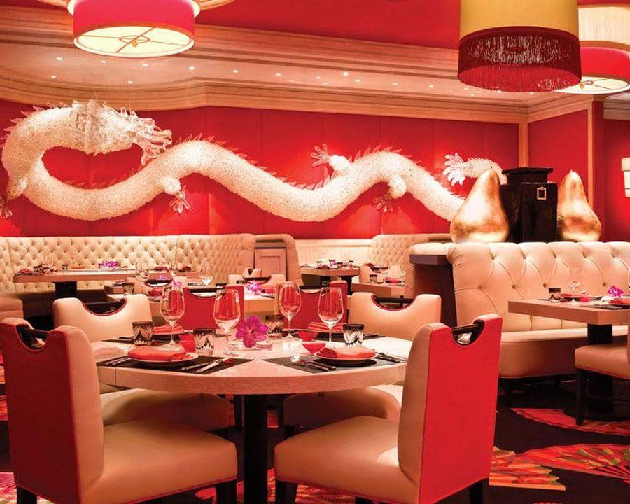 wonderful white dragon wall decor asian restaurant