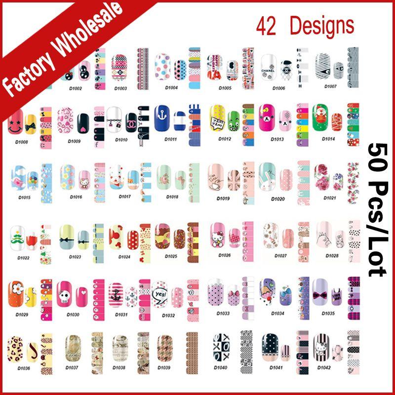 Wholesale Nail Art Sticker Patch,50sheets/lot Christmas Cartoon Mix ...
