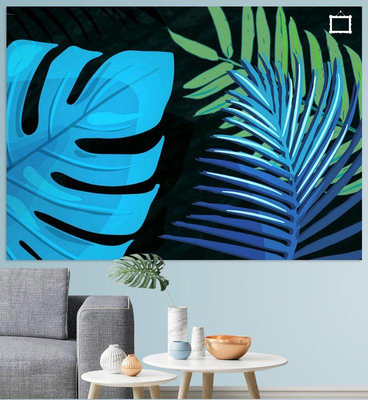 Tropical Leaves Black No3c2 Poster Pia Schneider