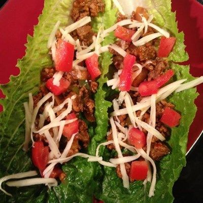 Tacos wrapped in Romain Lettuce Shells...  A fresh crisp take on tacos. By using romaine lettuce as the taco shell, helps to reduce the carbs and gluten you would get from a regular ...