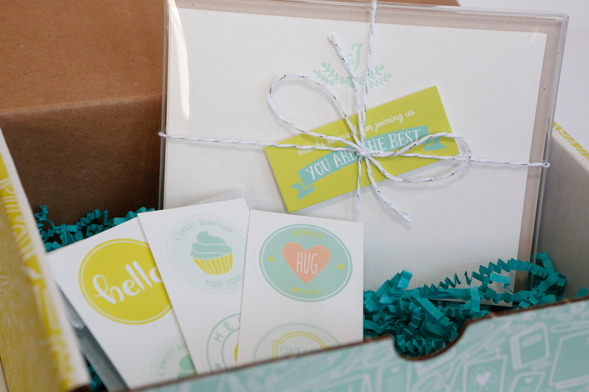 Monthly Letterpress Personalized Stationery Subscription Box - Join at www.hello-post.com