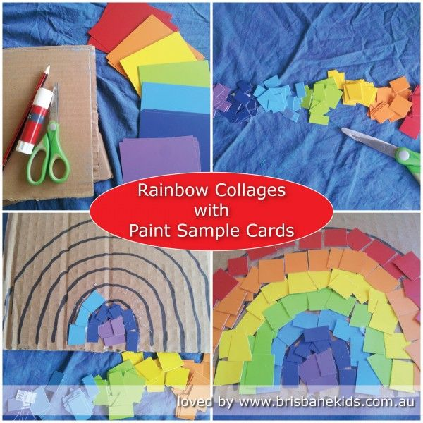 Rainbow Collages Paint sample cards, Collage and Rainbows - sample cards