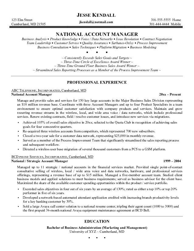 Excellent Resume Account Management Google Search. Resume Sample