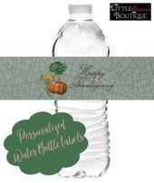 Thanksgiving Water Bottle Lables, Fall Water bottle Labels, Thanksgiving Dinner
