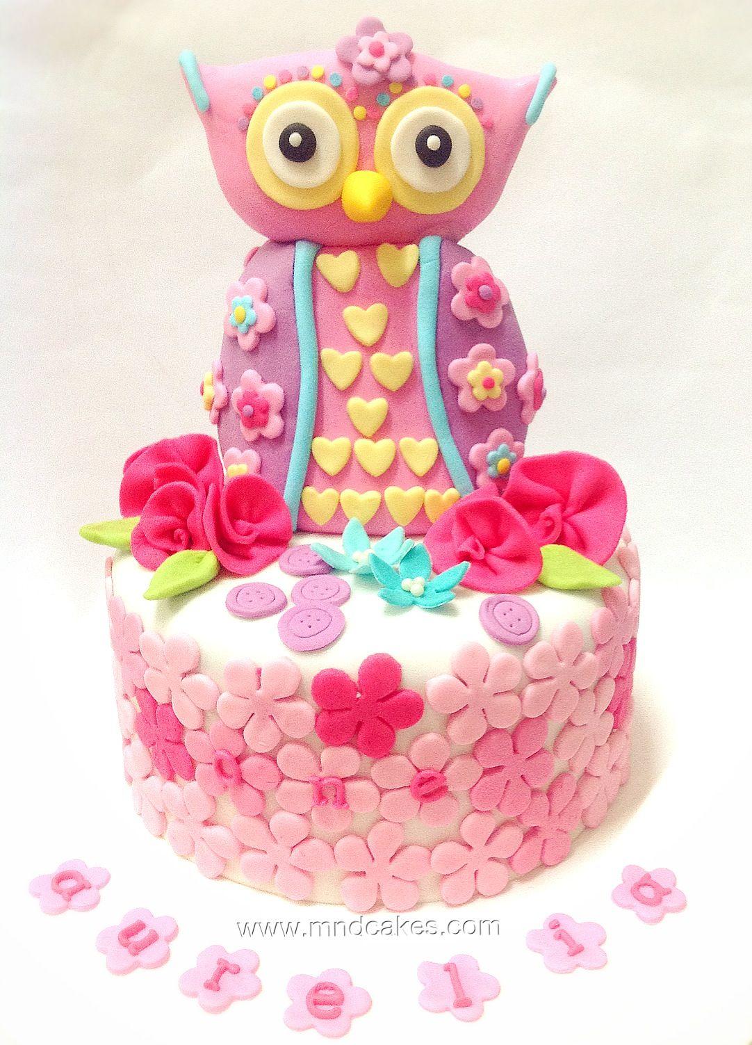 Mom & Daughter Cakes: Owl Cake For 1st Birthday