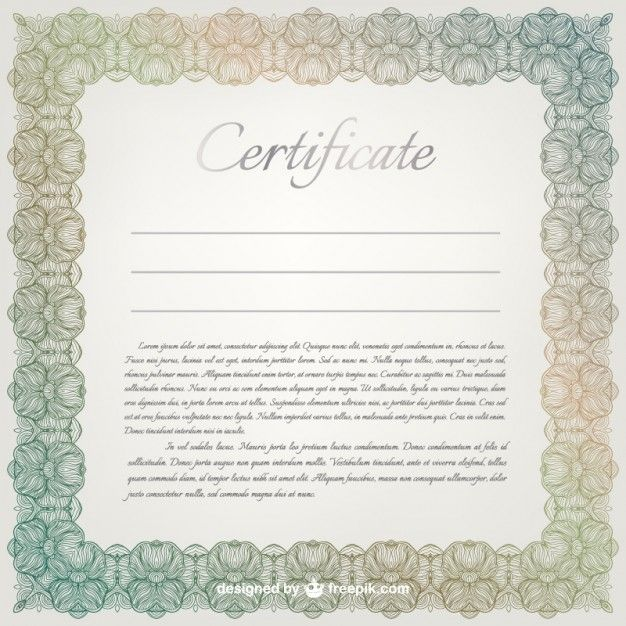 Certificate vector template free vector illustrations certificate vector template free vector yelopaper Choice Image
