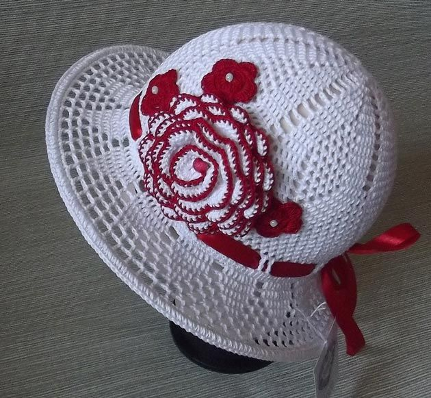 20 схем вязания летних детских шапочек, панамок и бандан