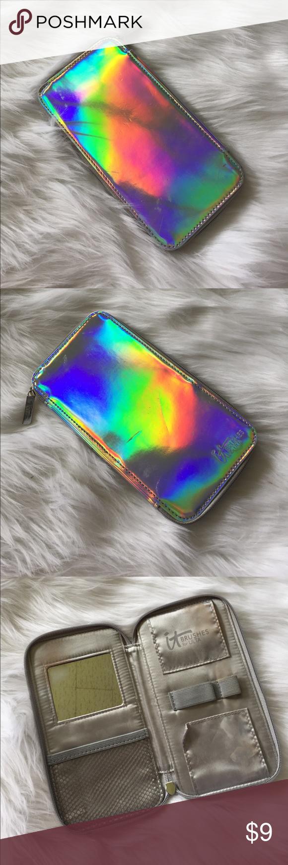 ️ Holographic Cosmetic Brush Case It cosmetics brushes