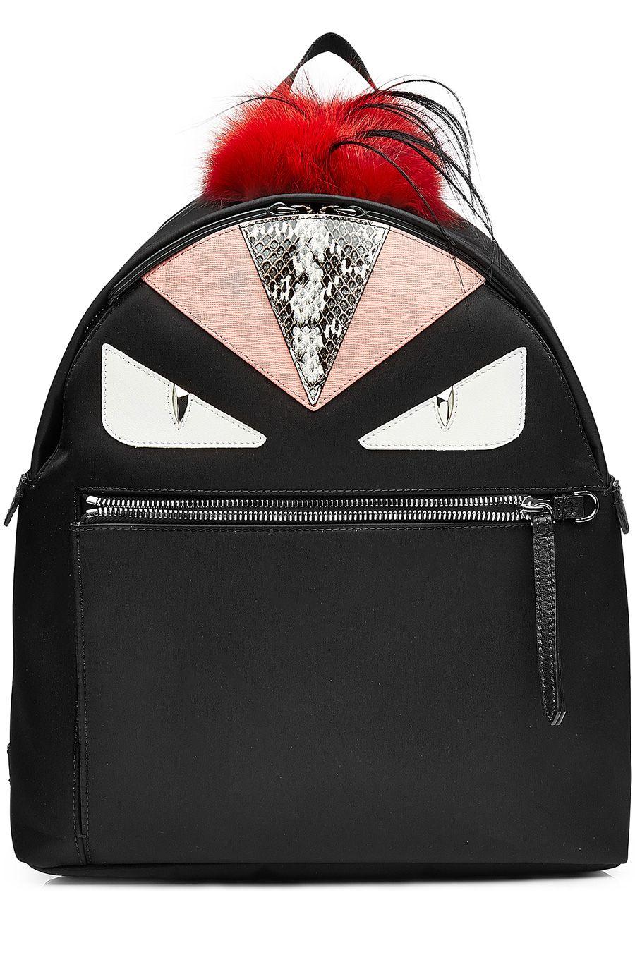 Sacs À Dos · Estampe · FENDI Backpack With Fox Fur.  fendi  bags  fur   polyester  backpacks 5d96d5da222