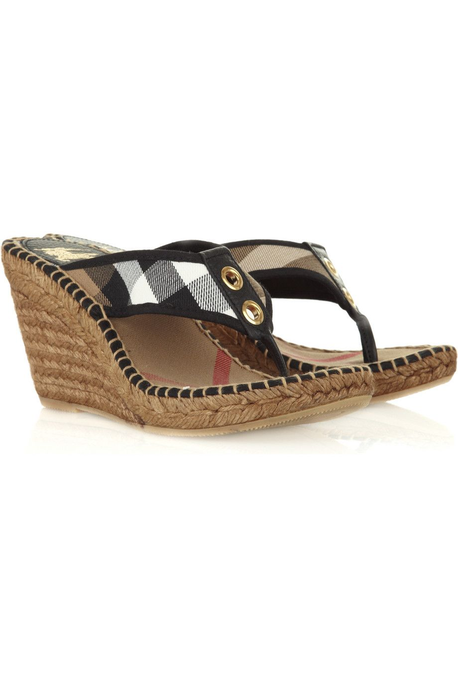 Espadrille wedge sandals   Burberry