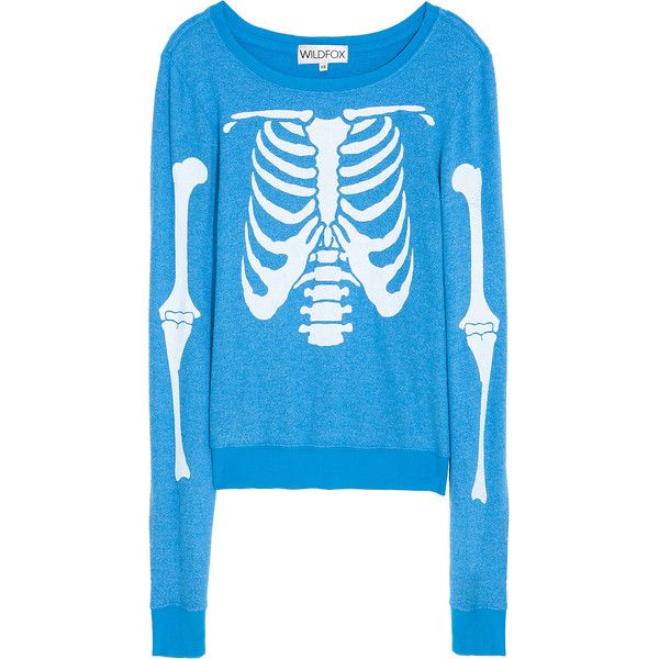 WILDFOX Skeleton Sweater found on Polyvore