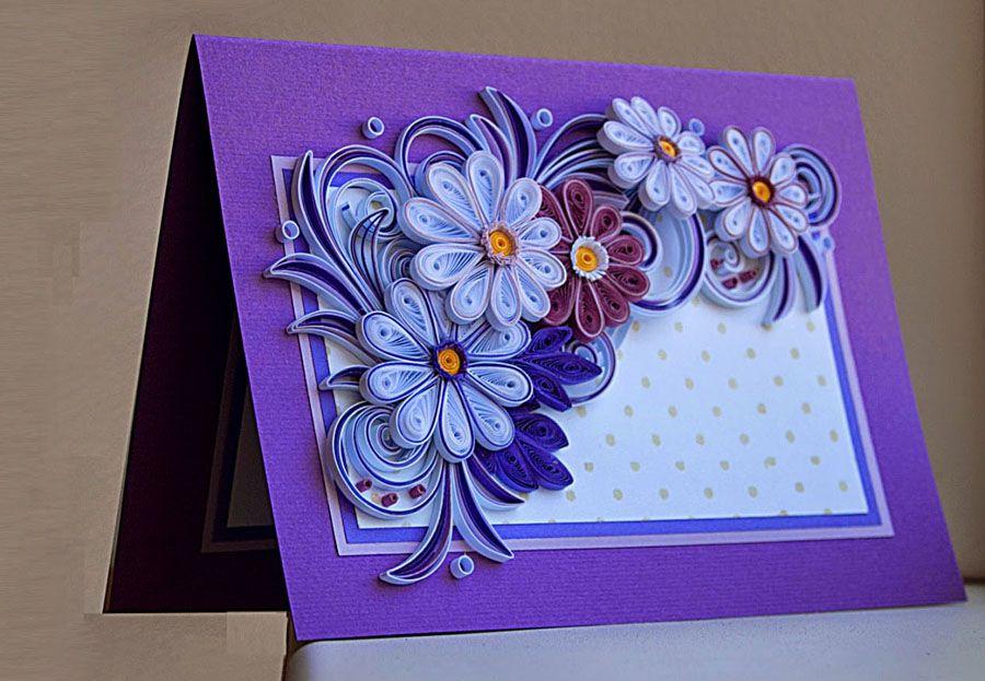 Квиллинг красивые открытки с днем рождения