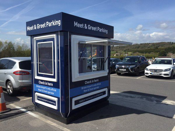 New meet and greet parking hut at bristol airport ticket kiosks new meet and greet parking hut at bristol airport m4hsunfo
