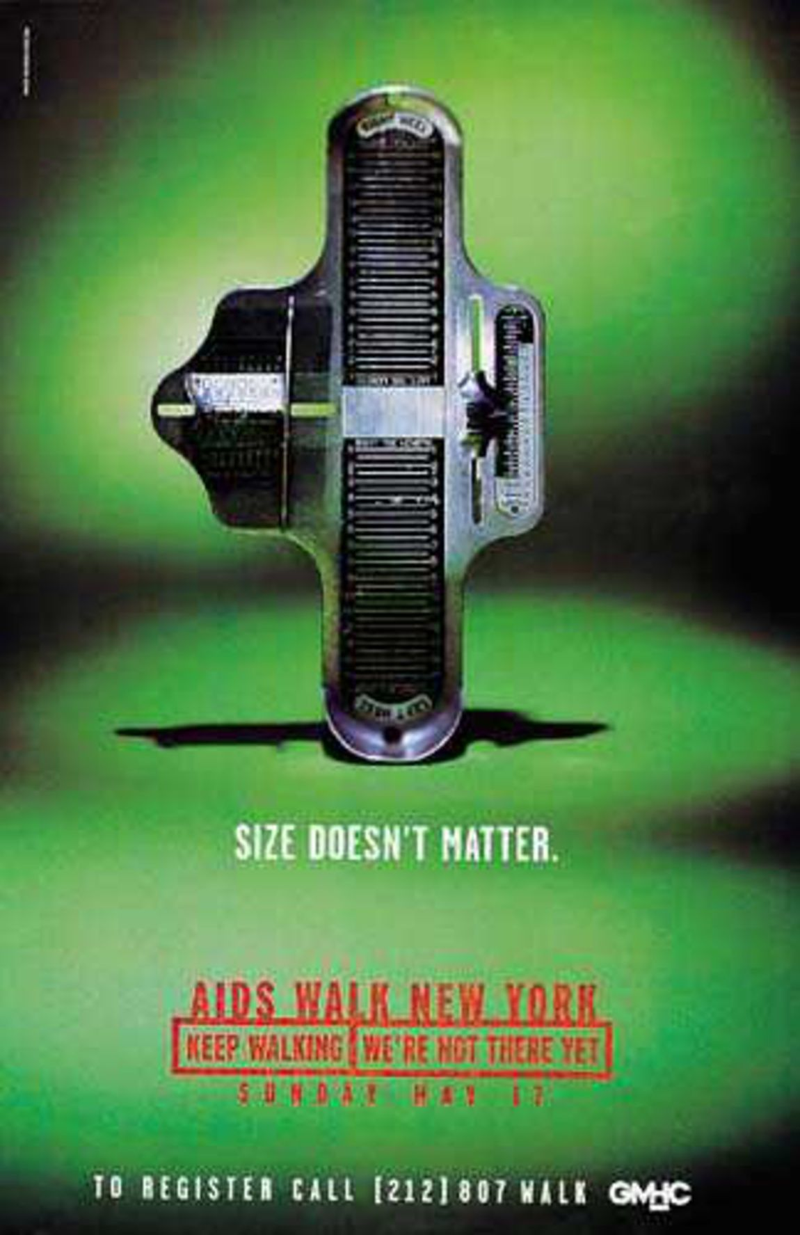 Read more: https://www.luerzersarchive.com/en/magazine/print-detail/2370.html Size doesn´t matter. Pay-off: Aids walk New York. Keep walking. We´re not there yet. Tags: Young & Rubicam (Y&R), New York,Robert Dufour,Betsy Petropoulos,GMHC,Nicholas Everleigh