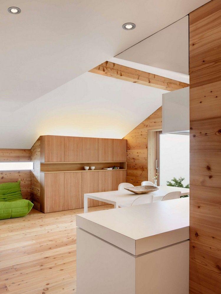Möbel Tessin lärchenholz wandverkleidung und weiße möbel einrichtung